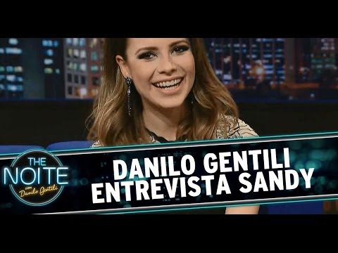 The Noite 22/05/14 (parte 1) - Entrevista Sandy