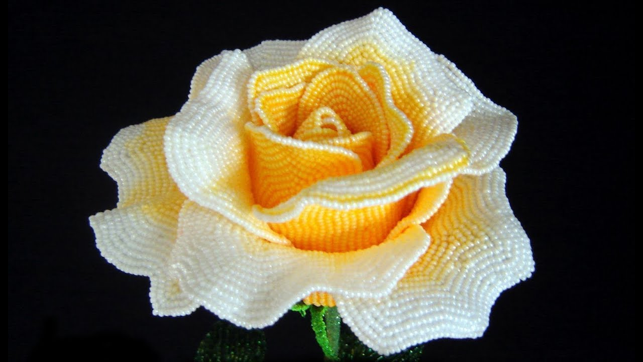 Розы из бисер мастер класс