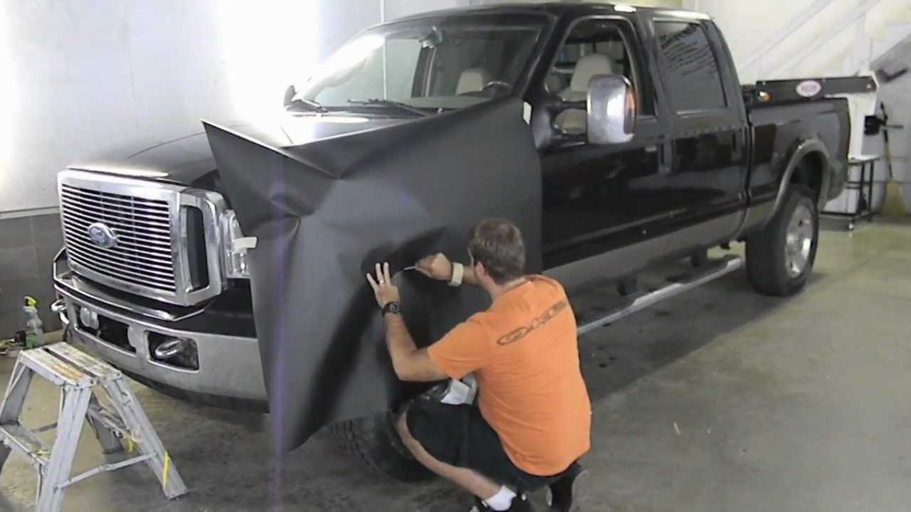 Ford F350 Matte Black Wrap Skin With 3m 1080 Vinyl V