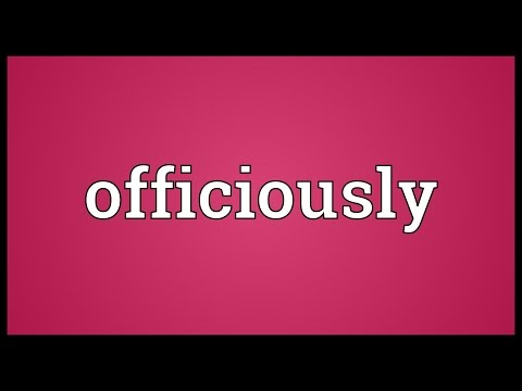 Header of officiously