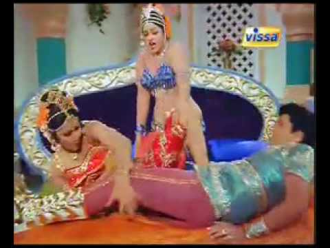 Jayamalini dance in blue dress