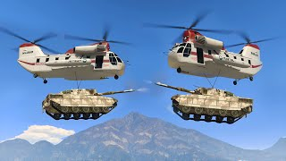 FLYING TANK FIGHT! (GTA 5 Funny Moments)