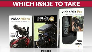 Røde VideoMicro, VideoMic Pro or RodeLink — Which Rode To Take [4K]