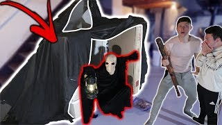 SCARY MONSTER HAS BEEN LIVING IN OUR BASEMENT AND HE BUILT A GIANT FORT!!