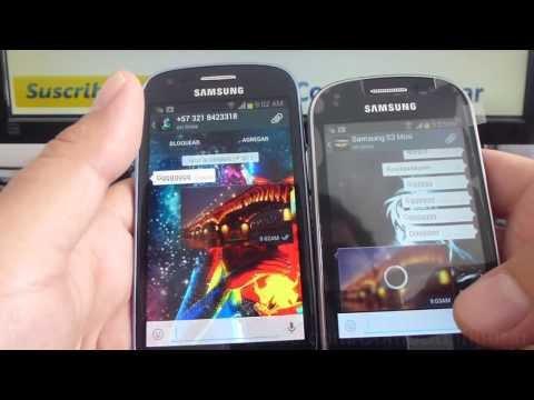 Cómo enviar una foto por WhatsApp samsung Galaxy s3 mini i8190 español Full HD