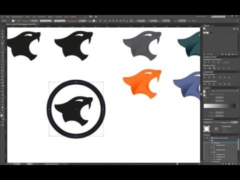 Урок по созданию логотипа Пантеры в иллюстраторе / Lesson to create logo Panther Illustrator