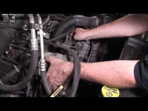 Dodge Dakota Coolant Leak Repair - Including Bypass Hose. Thermostat. Water Pump. etc.