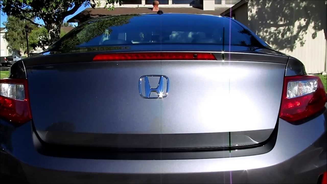 diy    honda accord coupe hfp deck lid spoiler installation youtube