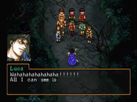 Suikoden 2 - Deafeat Luca Blight in 1 turn with all 3 parties