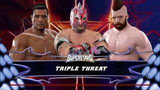 WWE 2K17 Kalisto VS Alberto Del Rio VS Sheamus In A Triple Threat Match