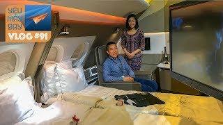 VLOG #91: Khách sạn 5 sao bay Singapore Airlines: hạng Suites giường đôi | Yêu Máy Bay