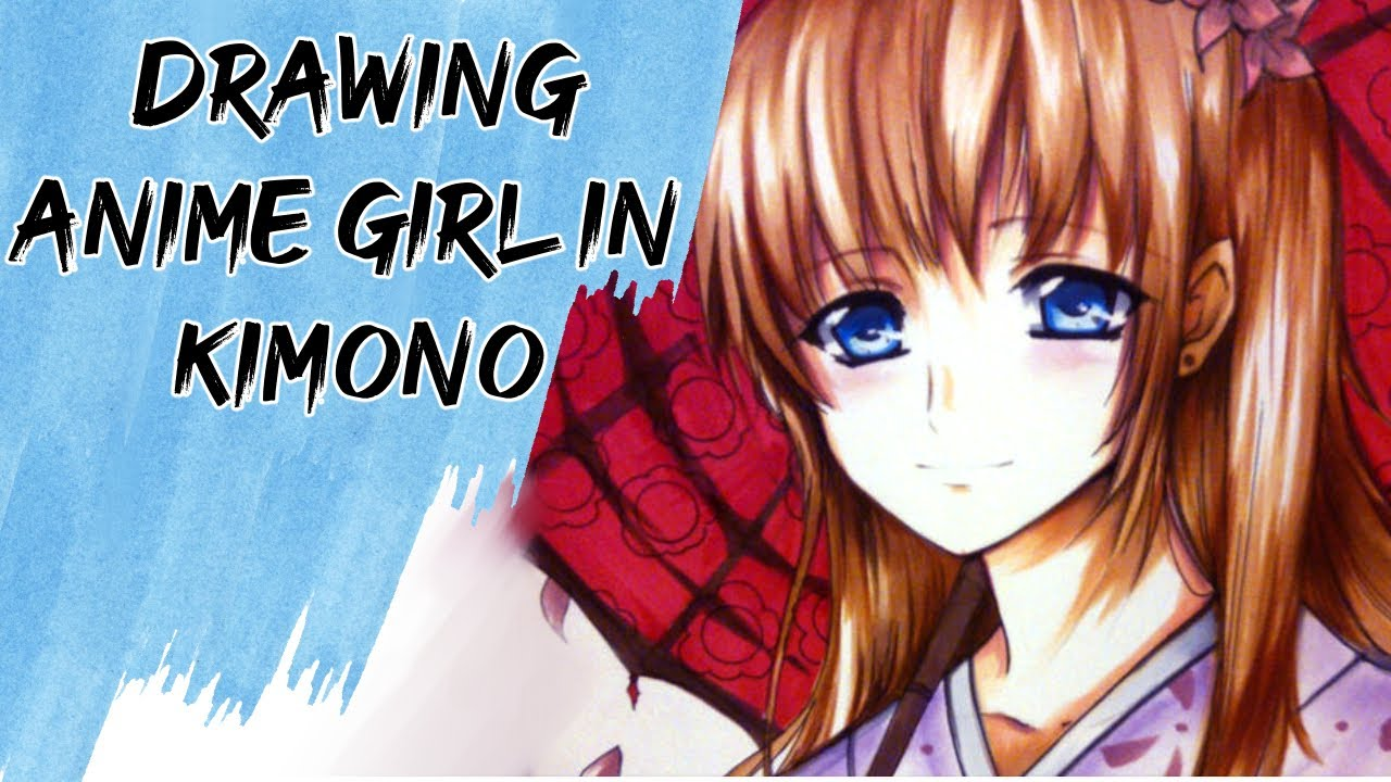 Girl Eyes Drawing Drawing Anime Girl in Kimono