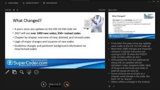 Master 2017 ICD 10 CM and ICD 10 PCS Changes in Minutes