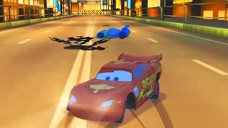 Flash mcqueen disney pixar cars 2, course sur circuit | dessin animé en francais