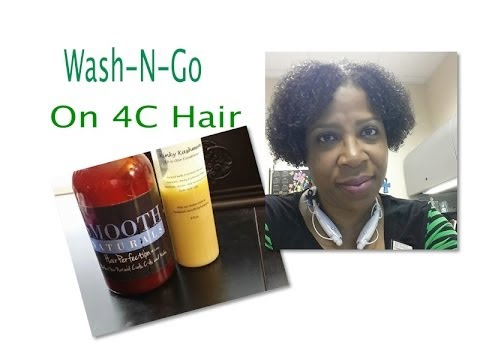 Natural Hair ~ WashNGo On 4C Hair 1 Year Later - Demo