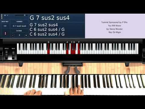 You Will Know (by Stevie Wonder) [Key of Eb] - Piano Tutorial