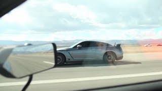1000 HP GTR vs 900 HP  GTR Half Mile Runway Drag Race