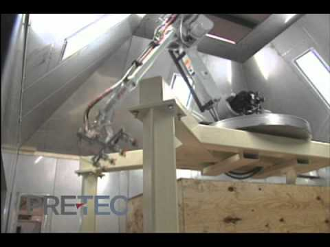 Paint Spray Booth Robotic Wood