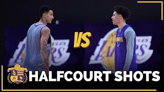 Lonzo Ball vs. Kyle Kuzma: Half-Court Shots