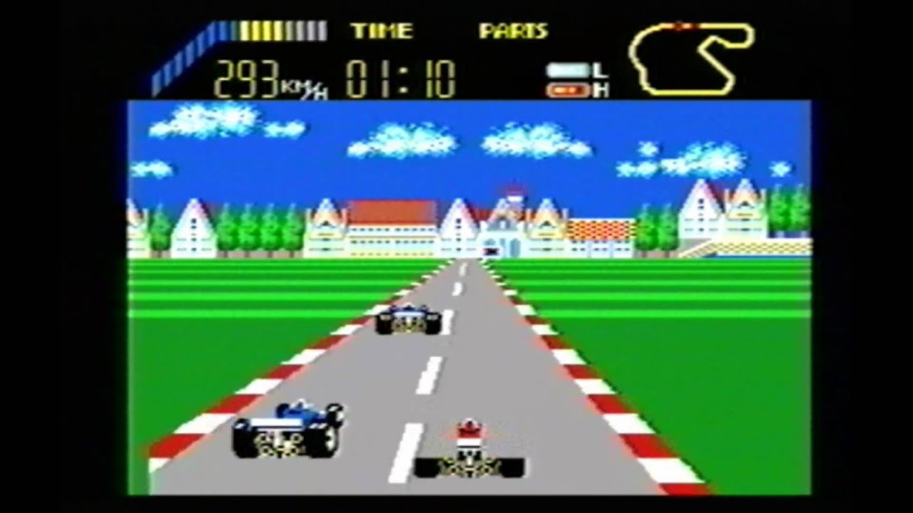 Car Driving Games >> Classic Game Room HD - WORLD GRAND PRIX for Sega Master SMS - YouTube