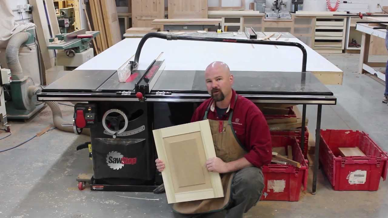 A Raised Panel Made Solely On The Sawstop Table Saw Youtube