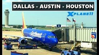 ✈️ X-PLANE 11 | TEXAS HAUL | DALLAS (KDFW) - AUSTIN (KAUS) - HOUSTON (KIAH) | LIVE FLIGHT