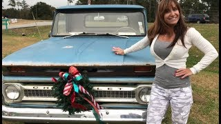 Tale of Two Classics- 1966 Farm Girl and a 1964 Chevy Stepside Truck. Classic Chevrolet
