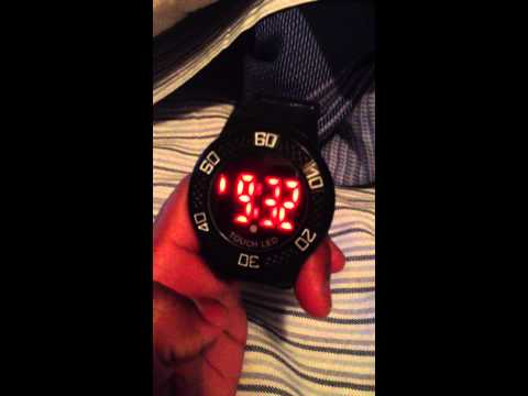 Red LED Touch Screen Watch Review