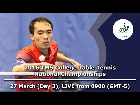 2016 TMS College Table Tennis National Championships - Day 3, Table 2