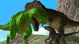 Mother Animal Save Baby Dino From Big Safari 3D Wild Animals Cartoon Animation Short Movie