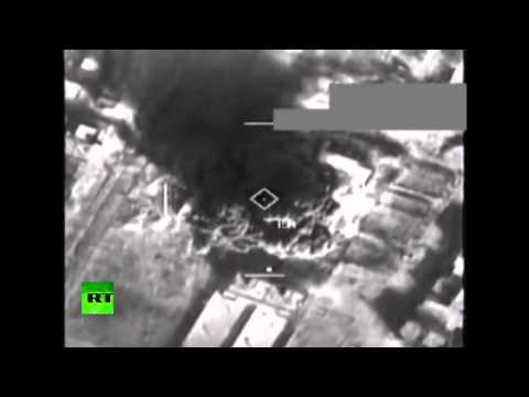 US v ISIS combat cam video: Airstrikes against Islamic State in Syria