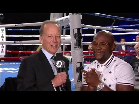 FLOYD MAYWEATHER ANNOUNCES HE IS IN TALKS WITH SHOWTIME AND CBS FOR RETURN