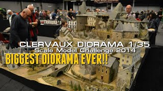 Most Epic and Biggest Diorama Ever ! - Clervaux 1/35 scale By Claude Joachim.