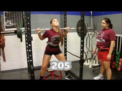Keleigh Salazar - Powerlifting Squat Bench Deadlift Training 9/22/13 @ Plano Texas Image 1