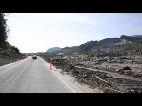 A drive on Highway 530 through Oso mudslide