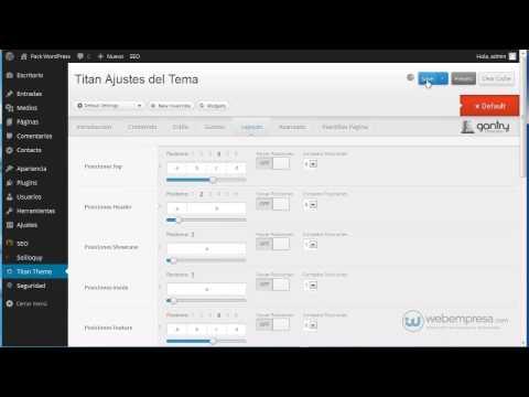 Packs Webempresa WordPress con framework Gantry: cambiar distribución de los widgets