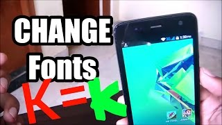 How To Change Fonts In ANY Android Device (Phone||Tablet)
