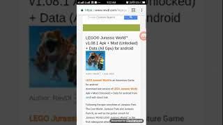 How to download Lego Jurassic world for Android free 100%WORKING