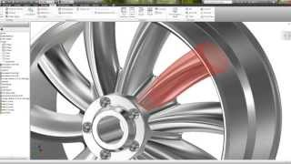 Autodesk Inventor - Slow version easy Tutorial Rim Design