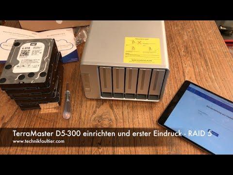 TerraMaster D5-300 einrichten und erster Eindruck - RAID 5