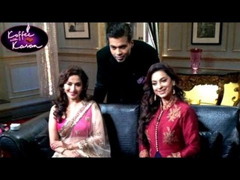 Juhi Chawla & Madhuri Dixit on Koffee With Karan 23rd February 2014 Episode