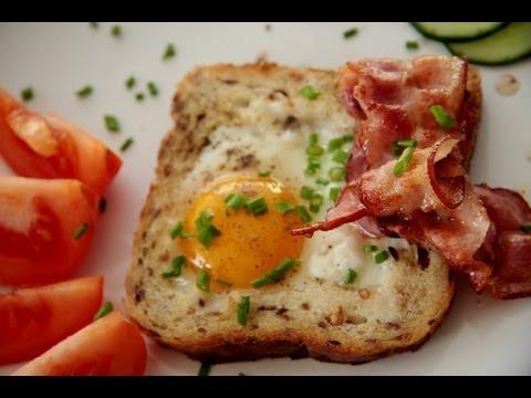 Jajko Sadzone W Toście, KitchenBook,