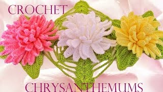 Como tejer fácil y rápido lindas flores Crisantemos - How to make Knitting chrysanthemums
