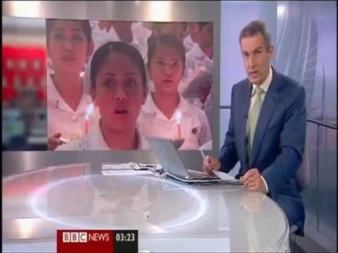 Philippines - Nurses cannot find jobs (BBC News)