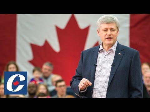 PM Harper delivers remarks in Ottawa