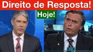 Direito de Resposta do Bolsonaro hoje no Jornal Nacional! Veja o direito de resposta do Brizola...