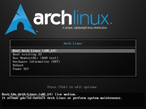 Tutorial da instalação do Arch linux - Versão 4.11.3.1