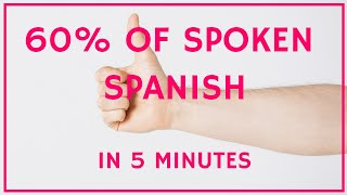 Spanish Words - 100 Most Common Words Translated - Covering 60% of Spoken Conversation!