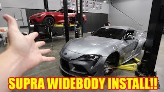Rocket Bunny Widebody Install on my Supra!!