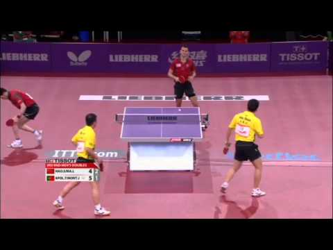WTTC 2013 Highlights: Ma Lin/Hao Shuai vs Tiago Apolonia/Joao Monteiro (1/8 Final)